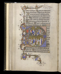 Historiated Initial To Psalm 38 With Scenes From The Life Of David, In The Egerton Bohun Psalter-Hours
